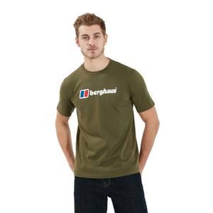 Men's Organic Big Logo T-Shirt - Dark Green