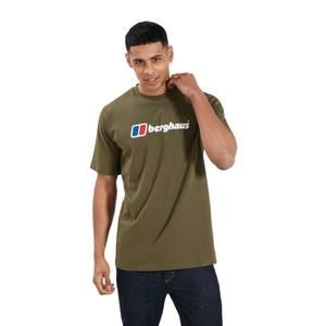 Men's Organic Big Classic Logo T-Shirt - Dark Green