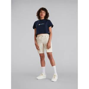 Women's Crop Short Sleeve Tee - Dark Blue