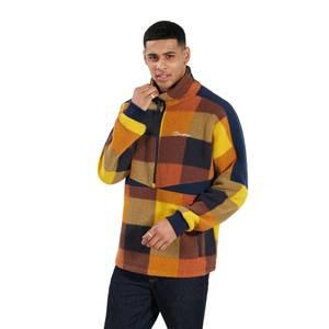 Men's Houlton Half Zip Fleece - Brown / Blue