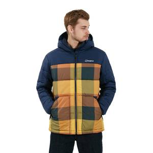 Men's Komatiite Insulated Jacket - Blue / Brown