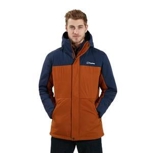 Men's Pole 21 Insulated Jacket - Brown / Blue