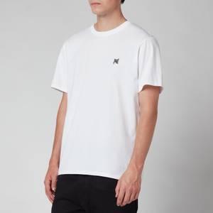 Maison Kitsuné Men's Grey Fox Head Patch Classic T-Shirt - White