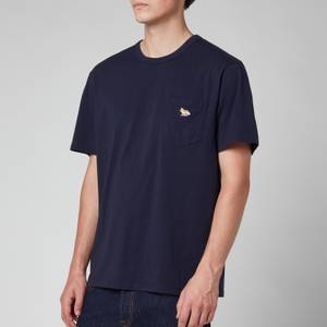Maison Kitsuné Men's Profile Fox Patch Pocket T-Shirt - Navy