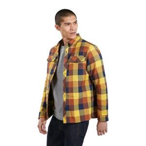 Men's Skawton Long Sleeve Shirt - Blue / Brown