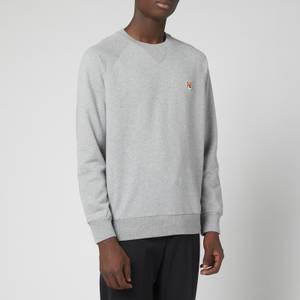 Maison Kitsuné Men's Fox Head Patch Classic Sweatshirt - Grey Melange