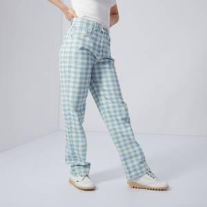 Gingham Straight Leg Jeans