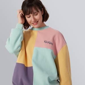 Brushed Back Panelled Sweatshirt