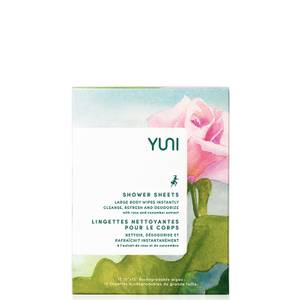 Yuni Beauty Shower Sheets with Rose and Cucumber Extract (12 Wipes)