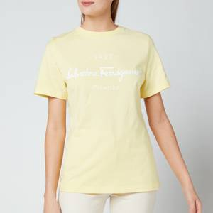 Salvatore Ferragamo Women's Signature T-Shirt - Yellow