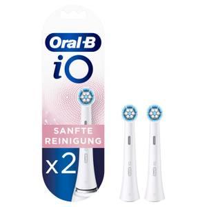 Oral-B iO Sanfte Reinigung Aufsteckbürsten, 2 Stück