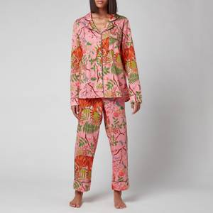 Karen Mabon Women's Tiger Blossom Pyjama Set - Pink