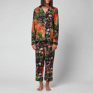 Karen Mabon Women's Midnight Tiger Pyjama Set - Navy