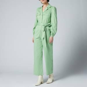Kitri Women's Remi Green Cotton Jumpsuit - Green