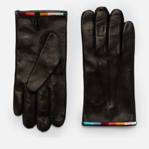 PS Paul Smith Men's Embroidered Leather Gloves - Black