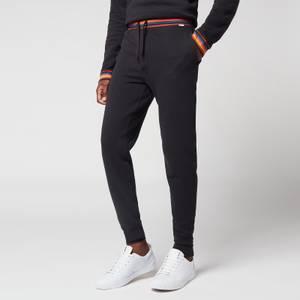 PS Paul Smith Men's Stripe Waistband Jersey Joggers - Black