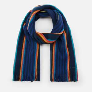 PS Paul Smith Men's Tonal Stripe Scarf - Blue