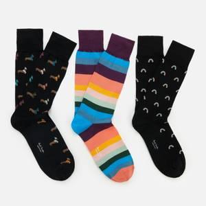 PS Paul Smith Men's 3-Pack Socks - Black