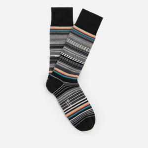 PS Paul Smith Men's Tanka Stripe Socks - Black