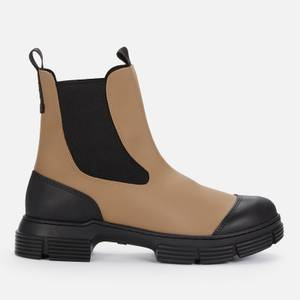 Ganni Women's Recycled Rubber Chelsea Boots - Fossil