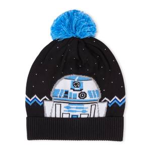 Merry Force Be With You Christmas Beanie Black