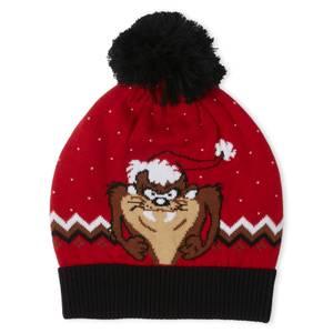 Taz the Season Christmas Beanie Red