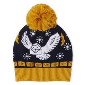 Harry Potter Owl Mail Christmas Beanie Navy