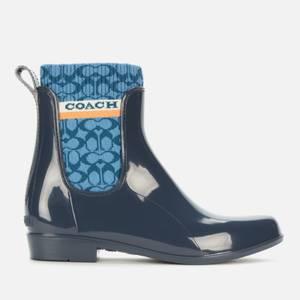 Coach Women's Rivington Rubber Rain Boots - Ombrew Blue