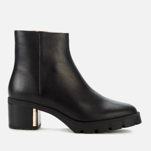 Coach Women's Chrissy Leather Heeled Ankle Boots - Black