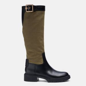 Coach Women's Leigh Leather Knee High Boots - Army Green