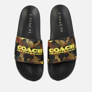 Coach Men's Camo Print Pool Slide Sandals - Camo Print
