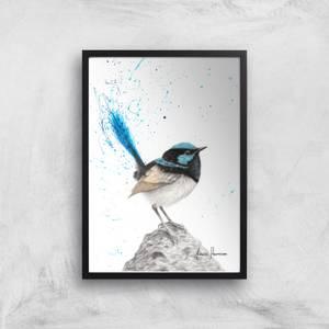 Mountain Blue Wren Giclee Art Print
