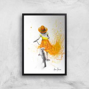 Her First Bicycle Giclee Art Print