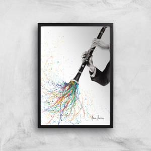 A Clarinet Tune Giclee Art Print
