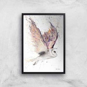 Heart Winged Owl Giclee Art Print