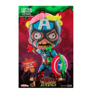 Hot Toys Cosbaby Marvel Comics [Size S] - Marvel Zombies: Captain America (Fluorescent Colour Version)