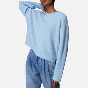 Whistles Women's Ribbed Crew Neck Jumper - Pale Blue