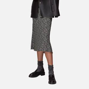 Whistles Women's Landmark Print Bias Cut Skirt - Black/Multi