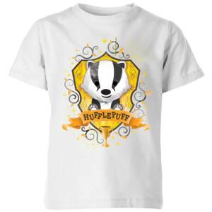 Harry Potter Hufflepuff Kids' T-Shirt - White