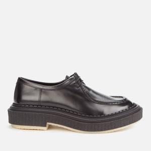 Adieu Men's Type 153 Leather Crepe Sole 2-Eye Shoes - Black