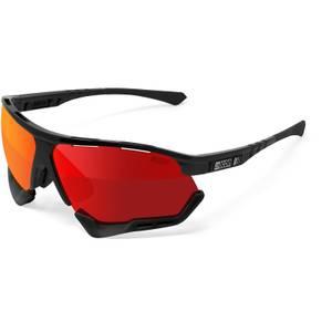 Scicon Aerocomfort XL Road Sunglasses - Black Gloss/SCNPP Multimirror Red