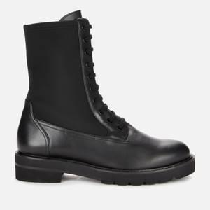 Stuart Weitzman Women's Ande Lift Leather Lace Up Boots - Black