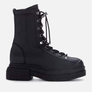 Stuart Weitzman Women's Rockie Leather Sportlift Hiking Style Boots - Black