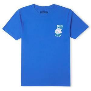 Sesame Street Cookie Monster On Blast Men's T-Shirt - Blue
