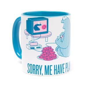 Sesame Street Sorry, Me Got Plans Mug - White/Blue