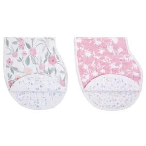 aden + anais™ Burpy Bibs 2 - Pack Cotton Muslin Ma Fleur