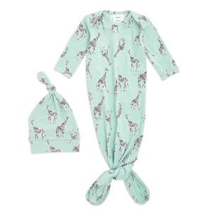 aden + anais™ Comfort Knit™ Knotted Gown + Hat Gift Set Jade (0-3 Months)