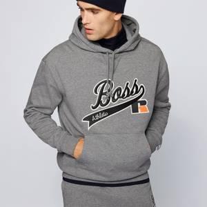 BOSS X Russell Athletic Men's Safa Pullover Hoodie - Medium Grey
