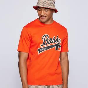 BOSS X Russell Athletic Men's Chest Logo T-Shirt - Bright Orange