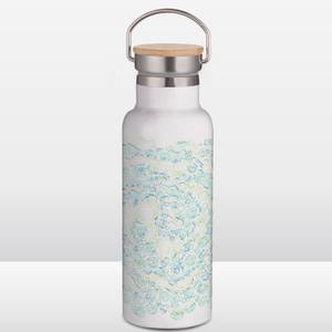 Rick and Morty Portal Heads Portable Insulated Water Bottle - White